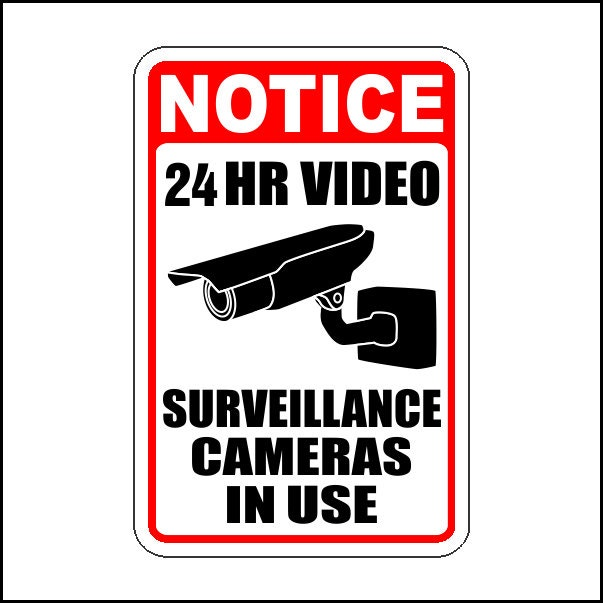 Security Camera In Use Sign  Printable Signs