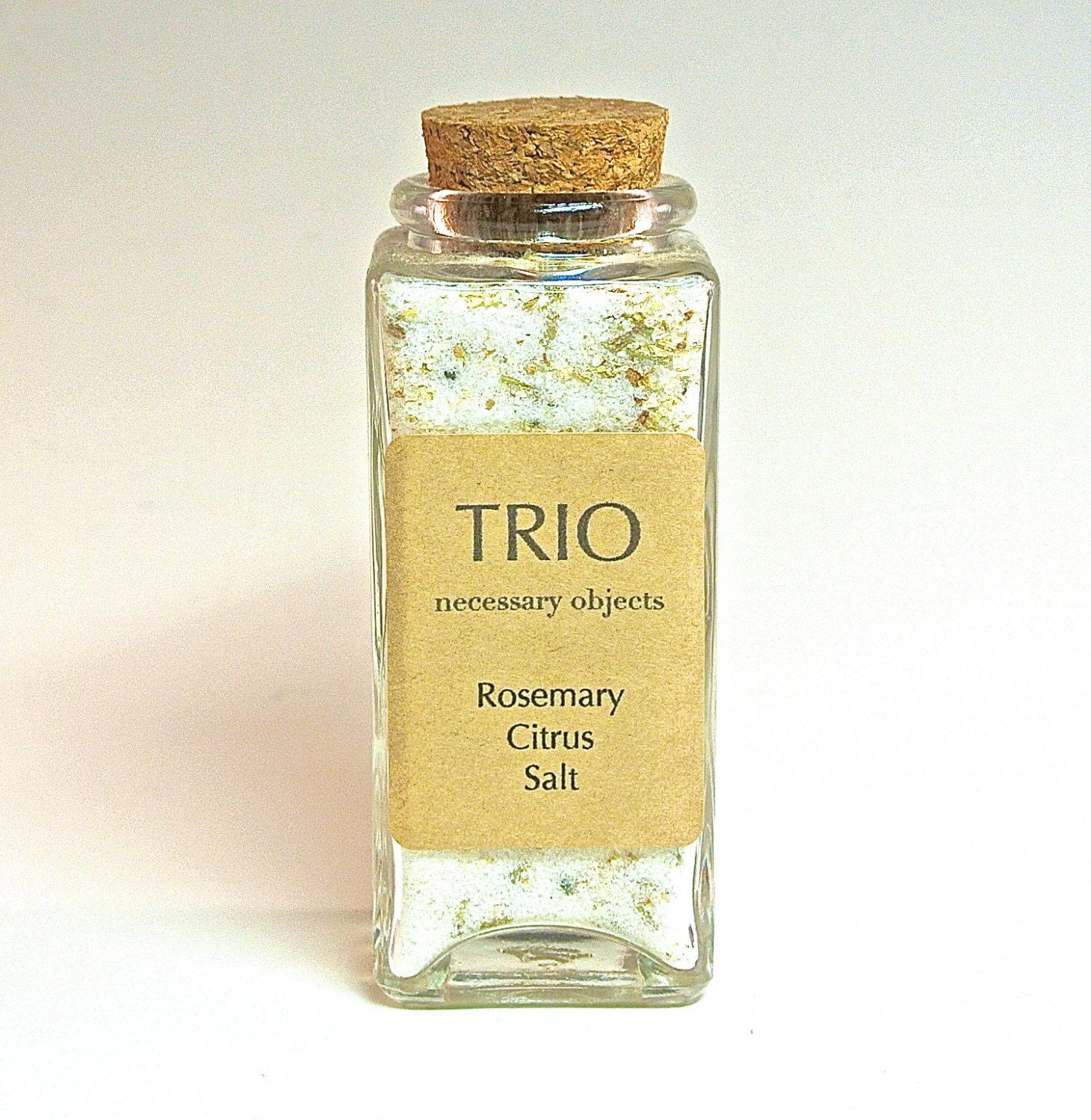 Rosemary Citrus Salt- Flavored Sea Salt in Spice Jar with Cork ...