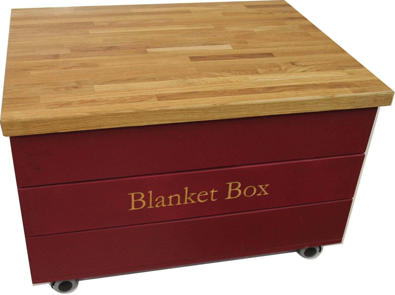 Oak top Storage Trunk  Ideal coffee table