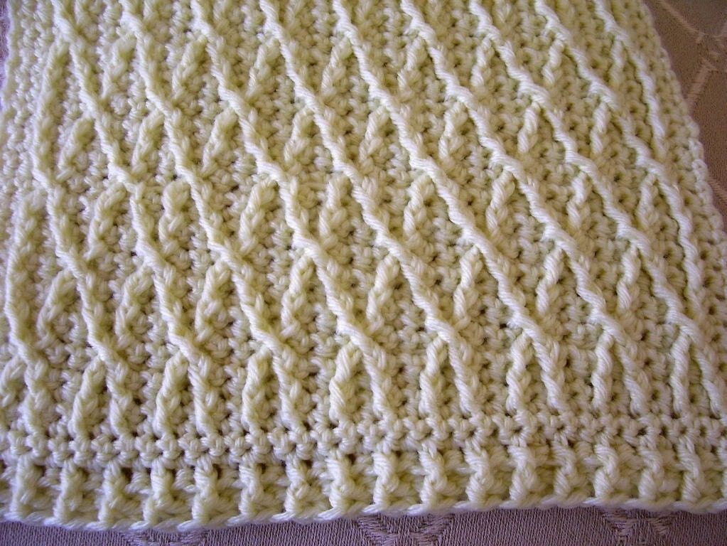 Crochet Scarf Patterns With Cables : Download Now CROCHET PATTERN Linked Cables by hollanddesigns
