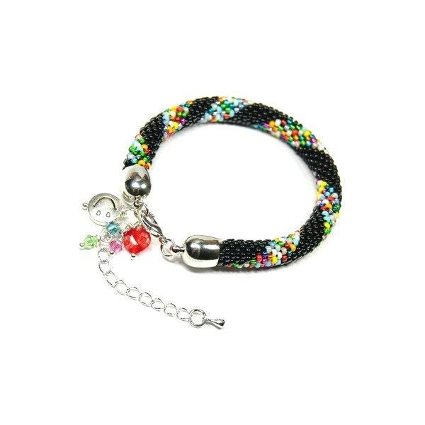 Beaded Bracelet. Toho Seed Beads Bracelet. Modern Bangle. Colorful. Bead Crochet Bracelet. Rope Bracelet. Oriental Bracelet. - ArtStyleBizu