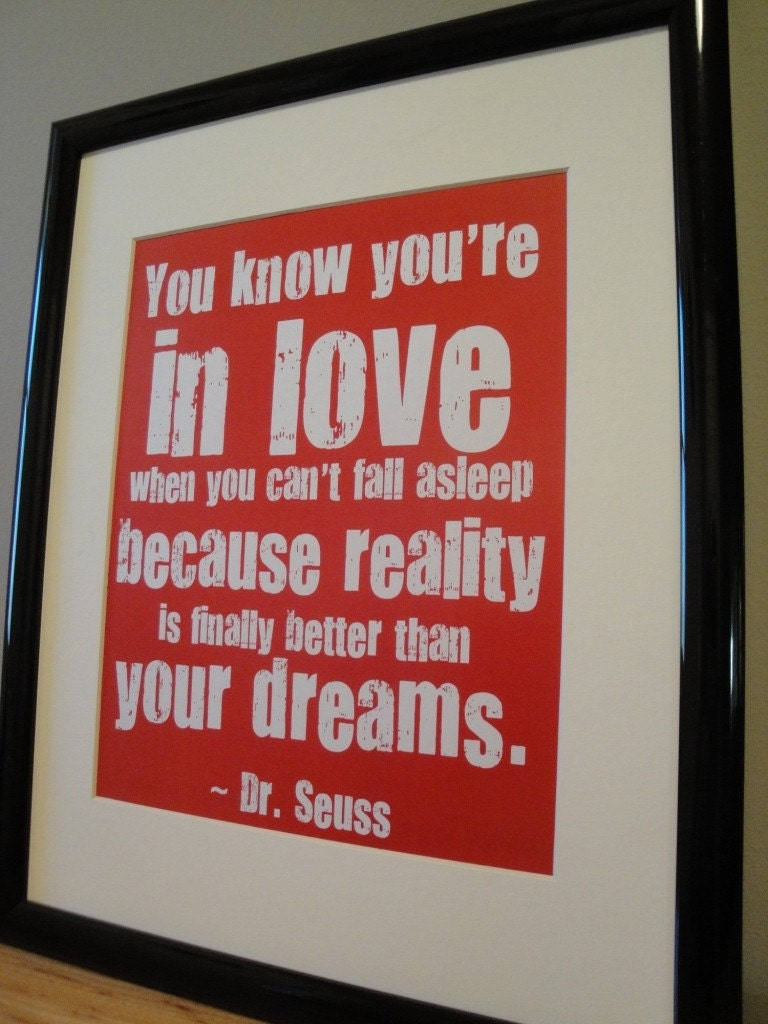 framed dr seuss love quote red by cantonboxcompany on etsy