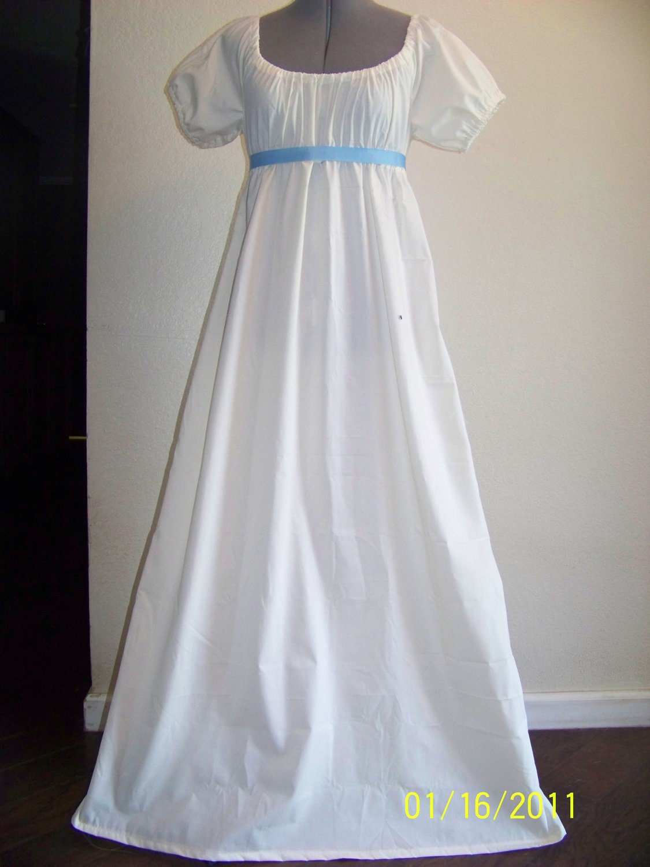 Jane Austen Regency Style Costume Dress Size 6 8 By Mrswheat01