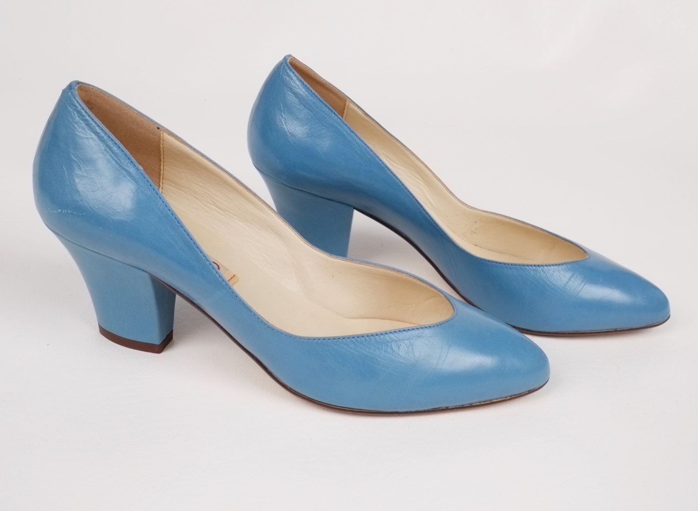 Vintage Bandolino Abisso Med Blue Womens Heel Shoes