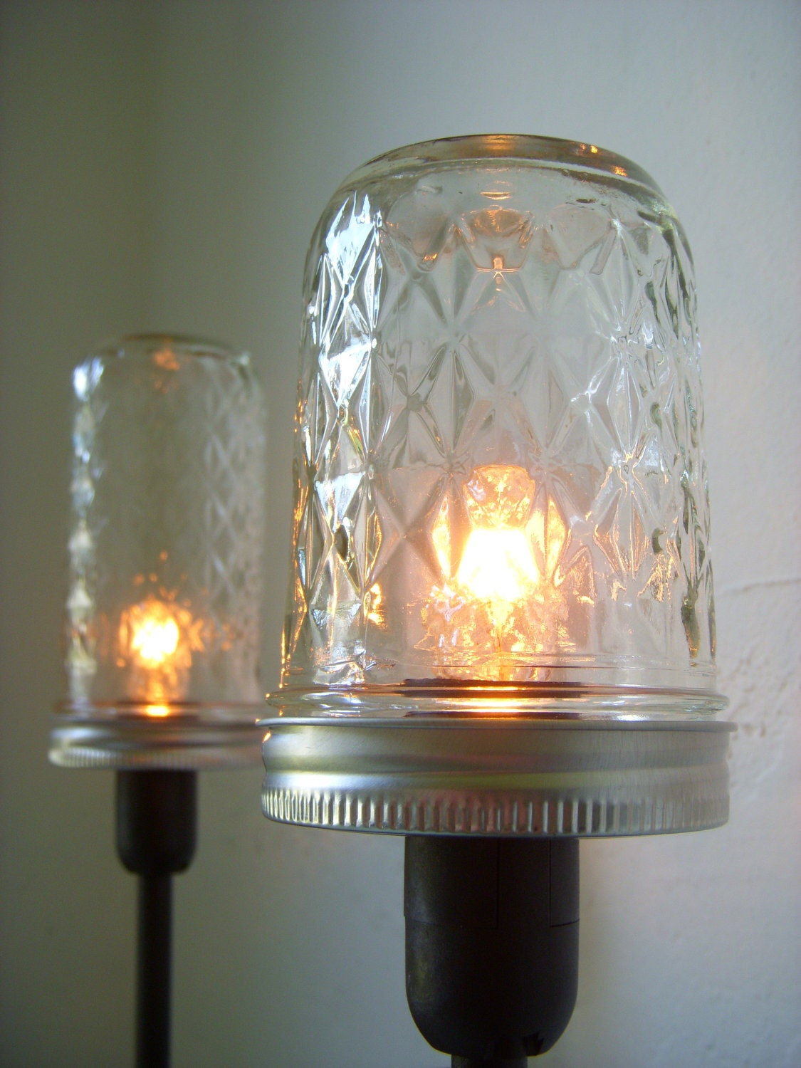 Mason Jar Lighting Mason Jar Table Top Lamp Rustic By