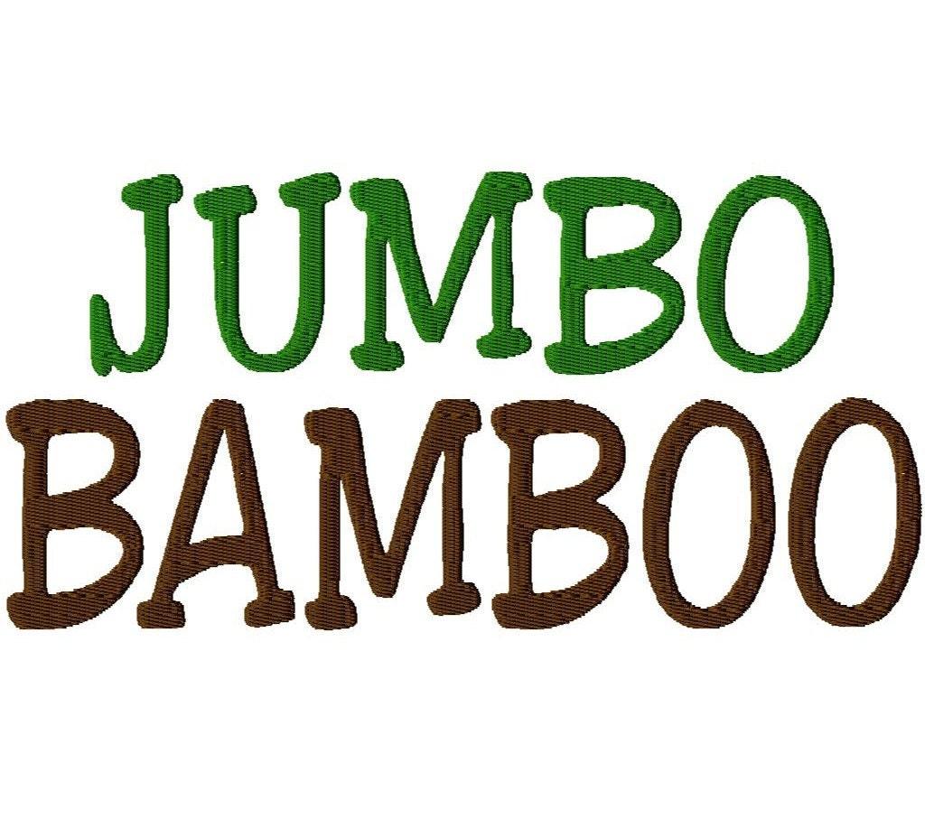 JUMBO Bamboo Script Machine Embroidery Font By LilliPadGifts