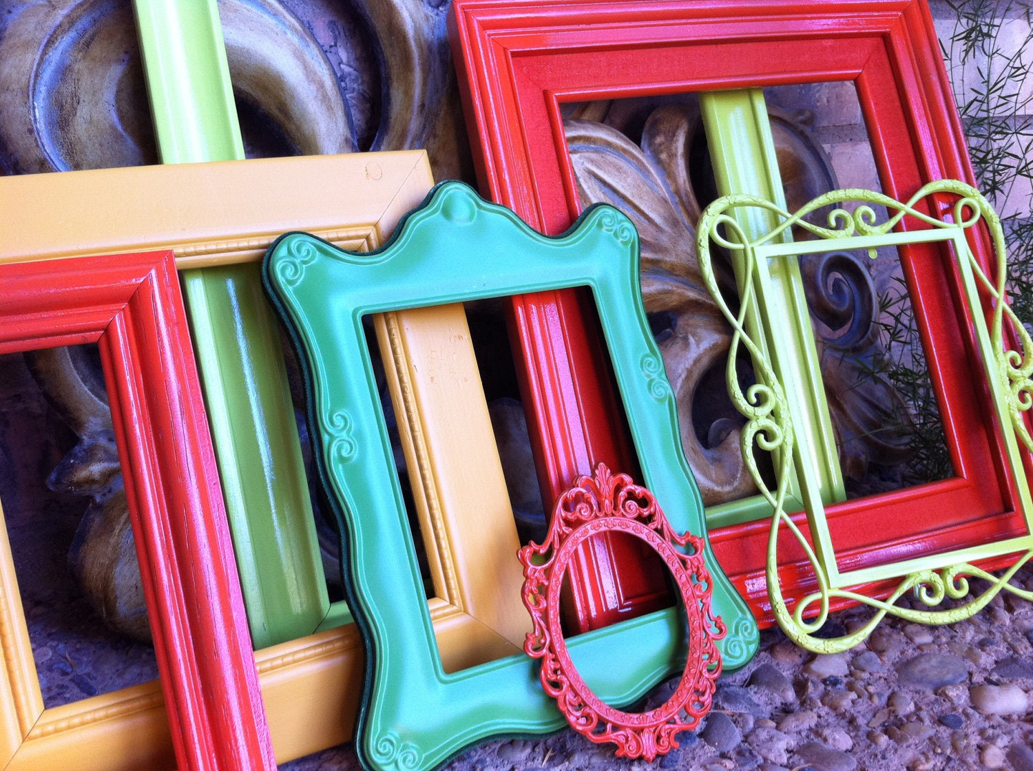 Vintage frames lime pinocchio funky home decor bright by for Funky decor for home