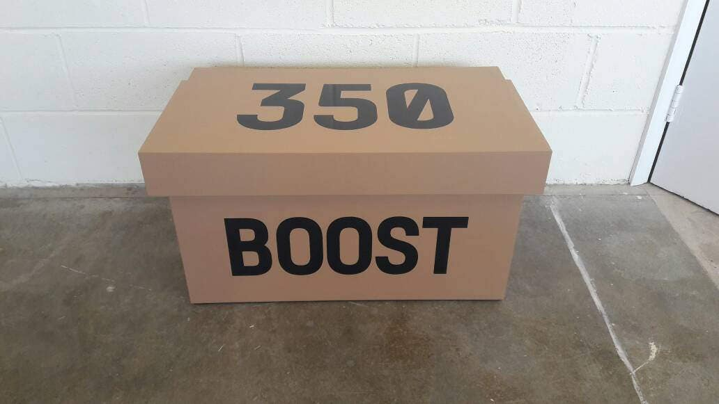 XL Trainer Storage Box Adidas Yeezy Giant Sneaker Box (fits 68no pairs of trainers)