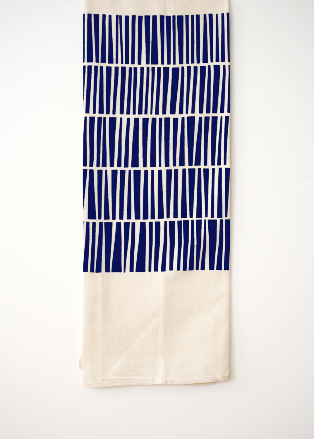 Keys - Flour Sack Tea Towel - Navy Blue - Organic Cotton - Dish Towel - Screen Print - shapescolors