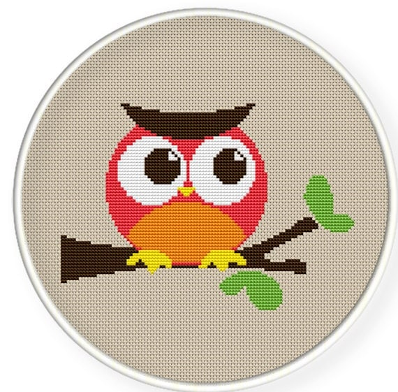 Instant Download,Free shipping,Cross stitch pattern, PDF,owl,ZXXC0148