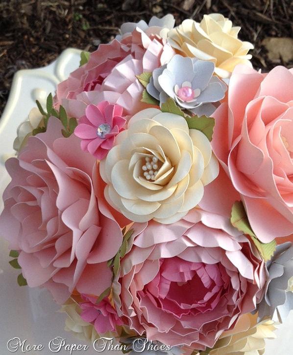 paper flower bouquet wedding bouquet by morepaperthanshoes. Black Bedroom Furniture Sets. Home Design Ideas