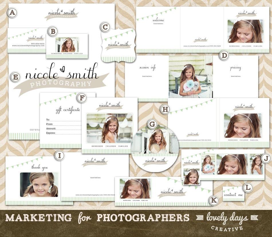 Photography marketing templates branding set by for Marketing templates for photographers