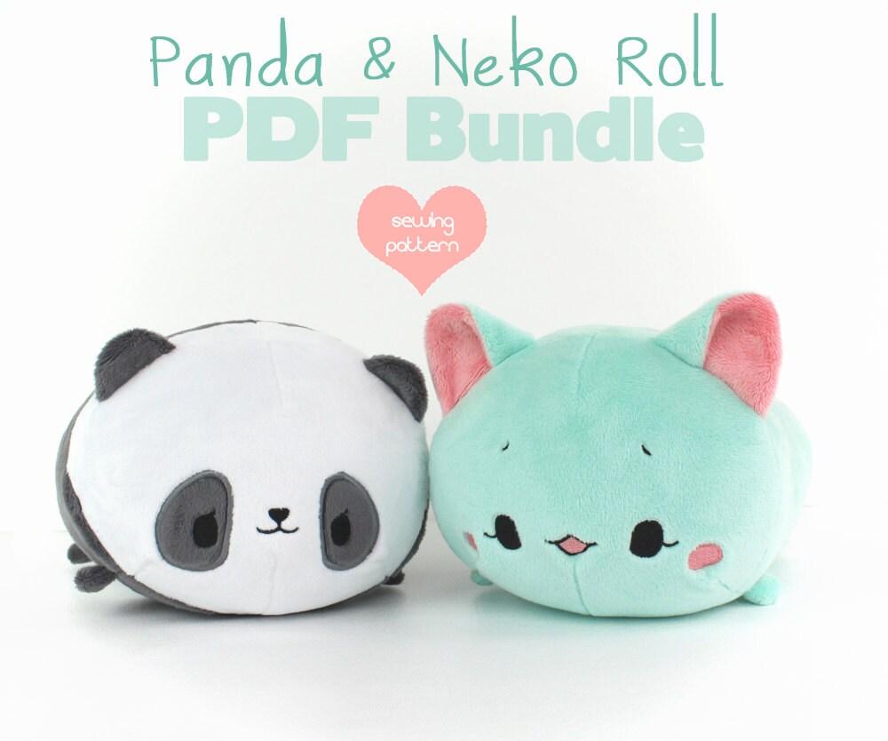 Panda plush pattern