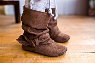 items similar to brown suede ruched boots baby and toddler