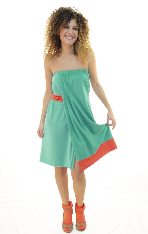 Handmade green Dress / spring summer Dress  / woman Dress women Dress / evening prom Dress - ThiPo
