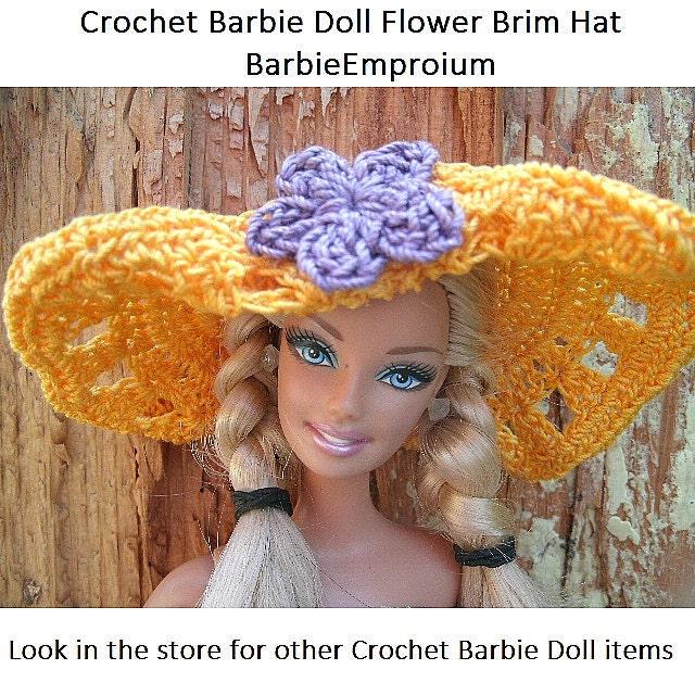 Free Crochet Patterns For Barbie Hats : Items similar to Crochet Barbie doll Hat, Barbie Hat ...