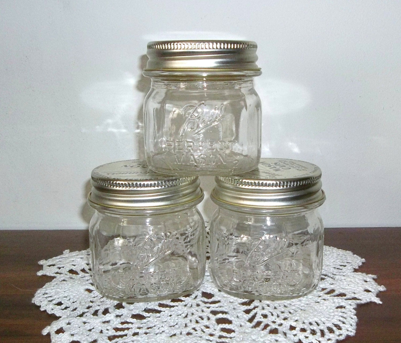 3 vintage ball perfect mason half pint size jar by. Black Bedroom Furniture Sets. Home Design Ideas