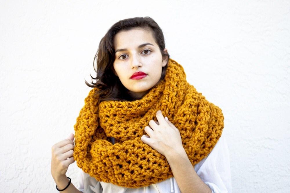 oversized cowl knit