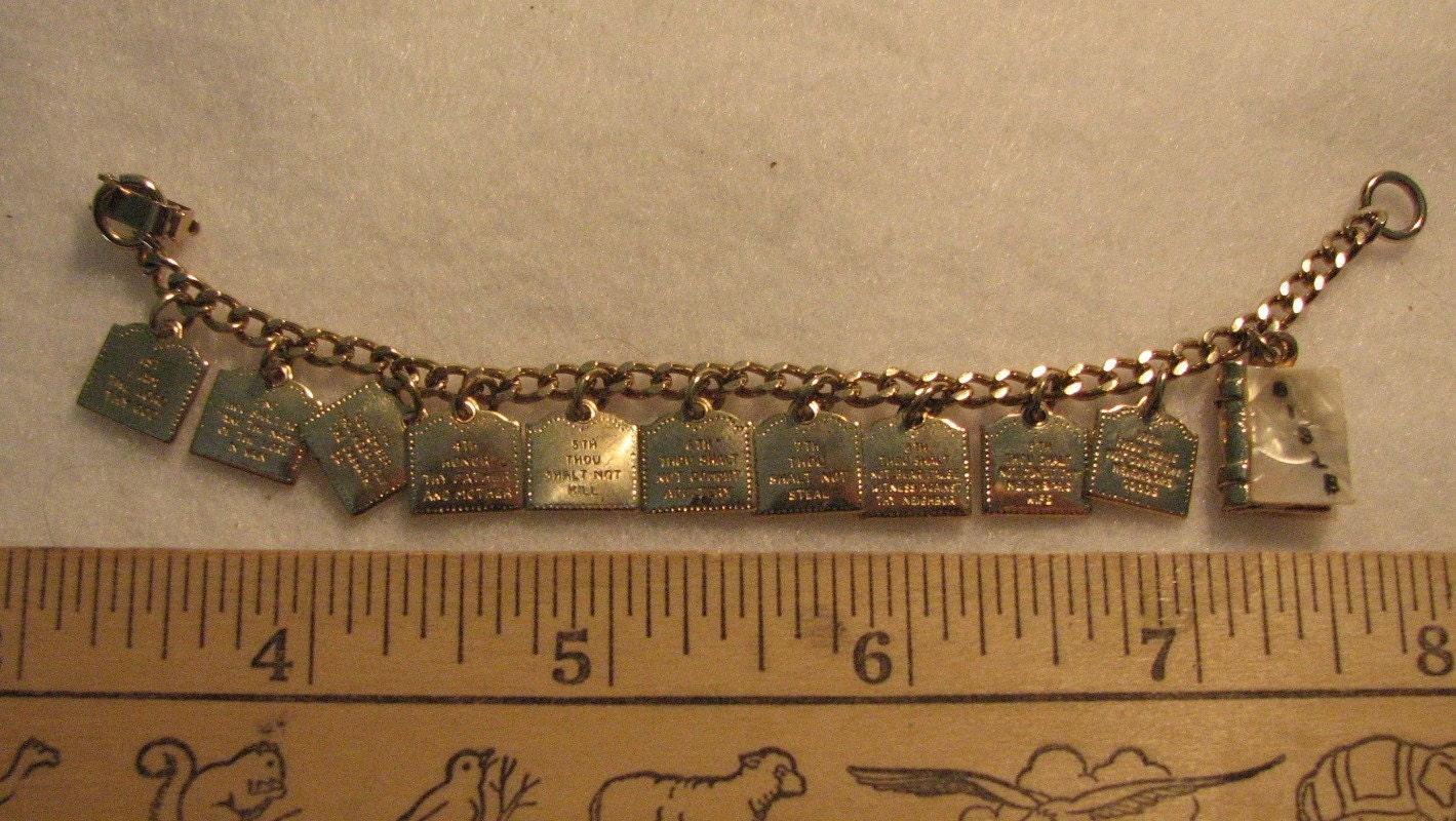 sale child s 10 commandments charm bracelet by dustinthewindz