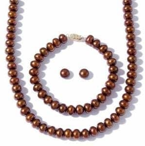7-8mm Chocolate Brown Pearl NECKLACE