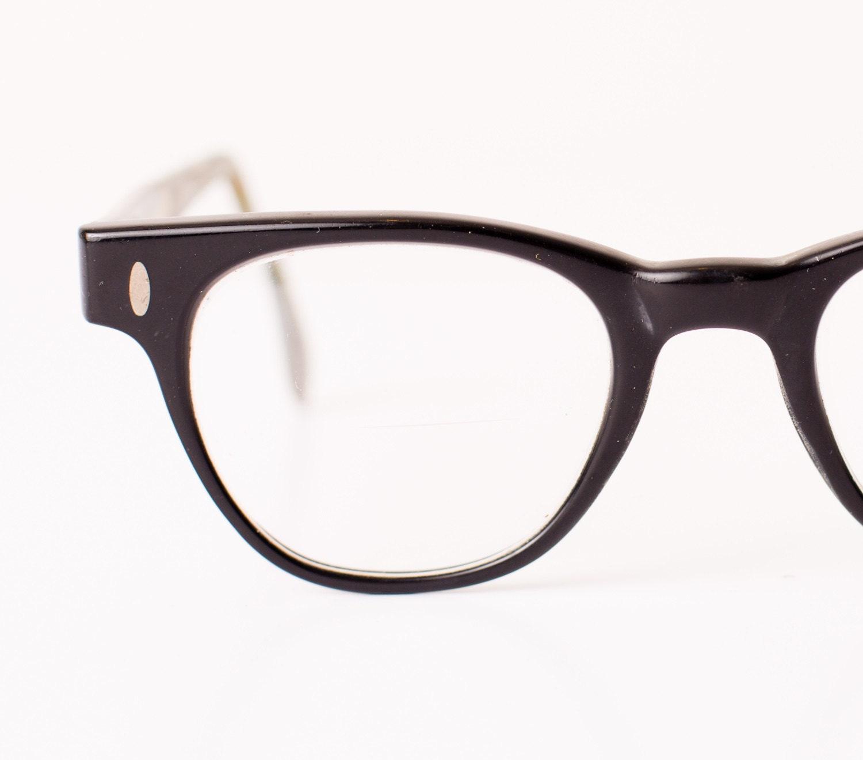 Vintage Hipster Glasses Thick Black Horn Rimmed by ...
