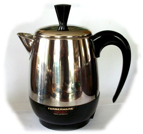 Farberware Automatic Coffee Maker Instructions : Items similar to Vintage MINT Farberware Stainless Steel Percolator COFFEE MAKER - Great ...