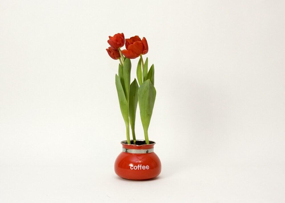 Coffee Pot - Red, Gemco, Vintage - TomLaurus