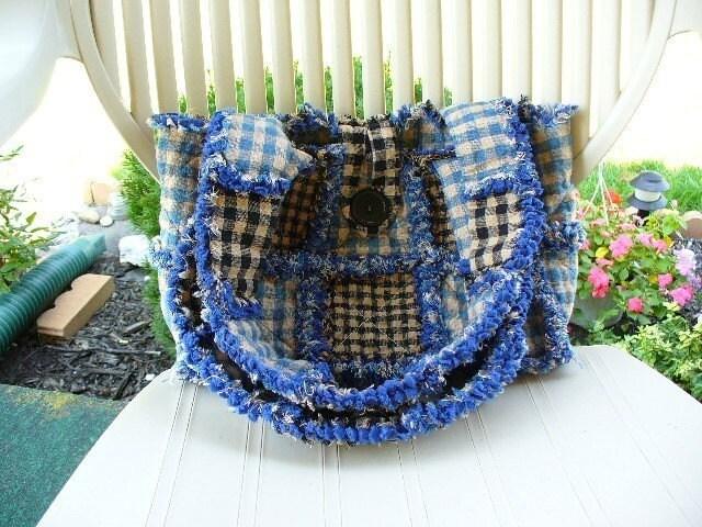 Rag Quilted Handbag Pattern : Ashlawnfarms Rag Quilt Purse INSTRUCTIONS ePattern by Ashlawnfarms