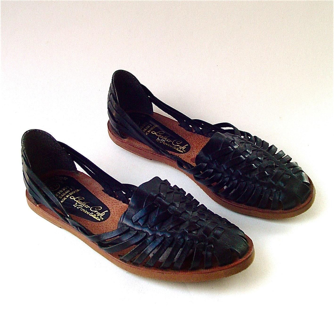 Huarache Shoes Soft Leather Etsy