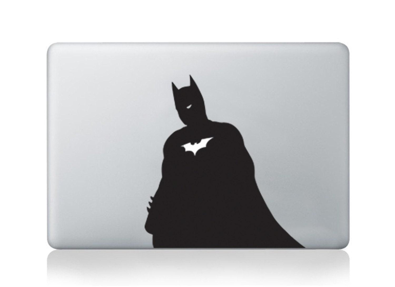 Batman LookAlike Laptop Macbook Air Pro Vinyl Sticker Decal Macdecal Macsticker Marvel Comics Heroes Cartoons DC HP Dell Thinkpad Acer