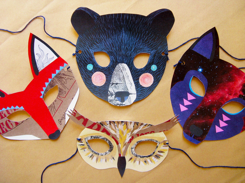 Детские маски своими руками из картона