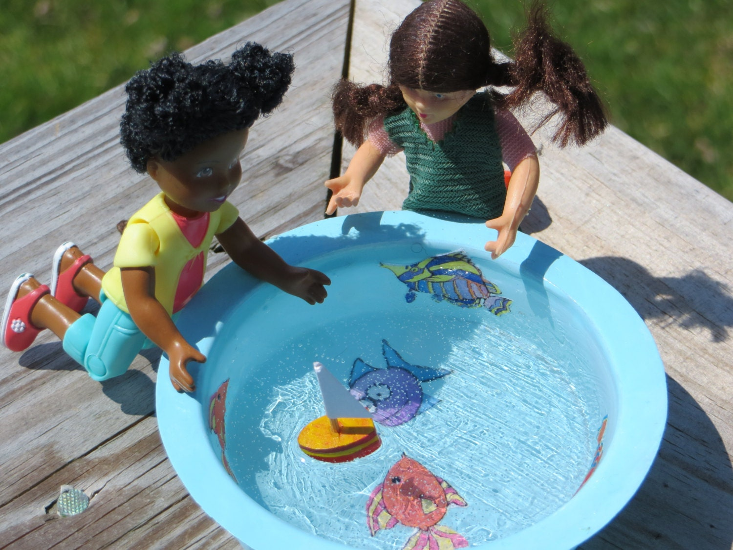 dollhouse miniature child 39 s swimming pool ooak 1 12 by
