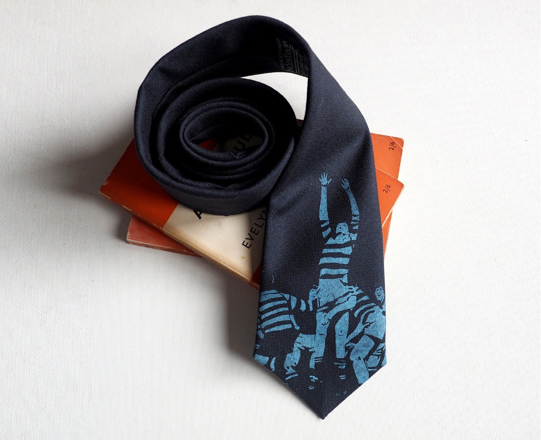 Rugby tie necktie tie Rugby necktie Rugby gifts necktie groomsmen necktie wool necktie cool necktie cool tie gifts for men