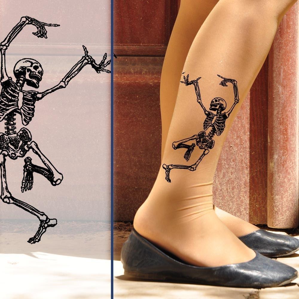 dancing skeleton tights