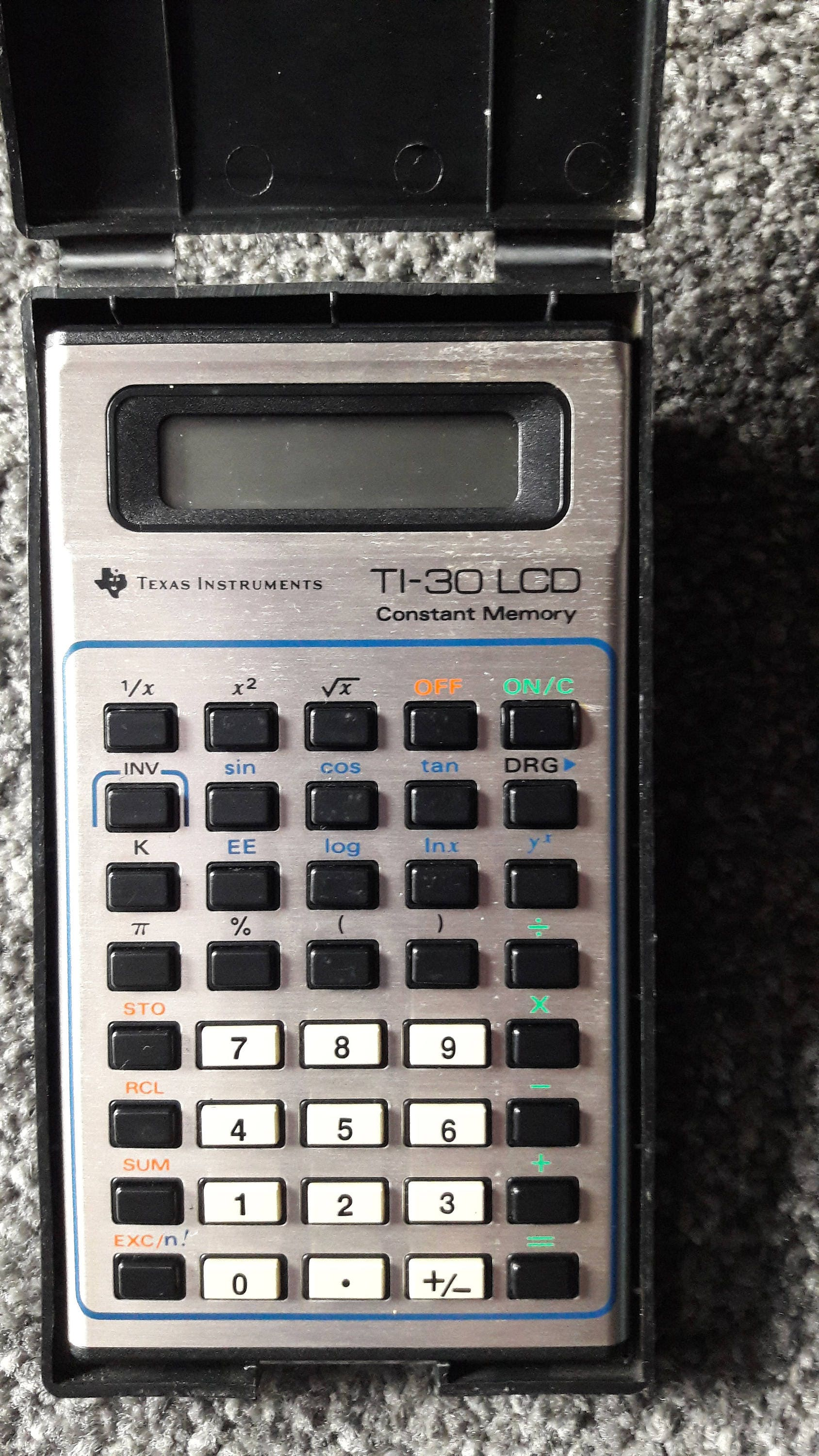 Texas Instruments TI30 Scientific Calculator vintage retro with case