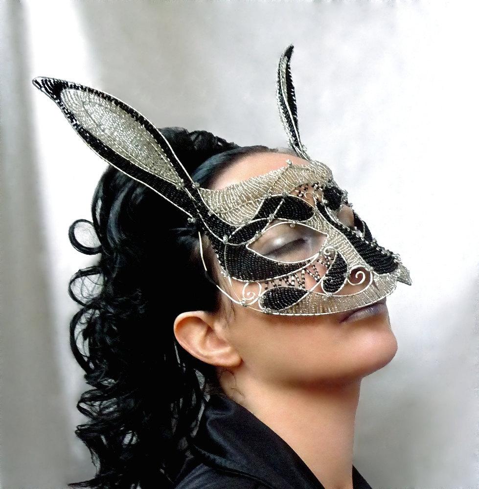 Rabbit masquerade mask, womens,costume, accessories, handmade