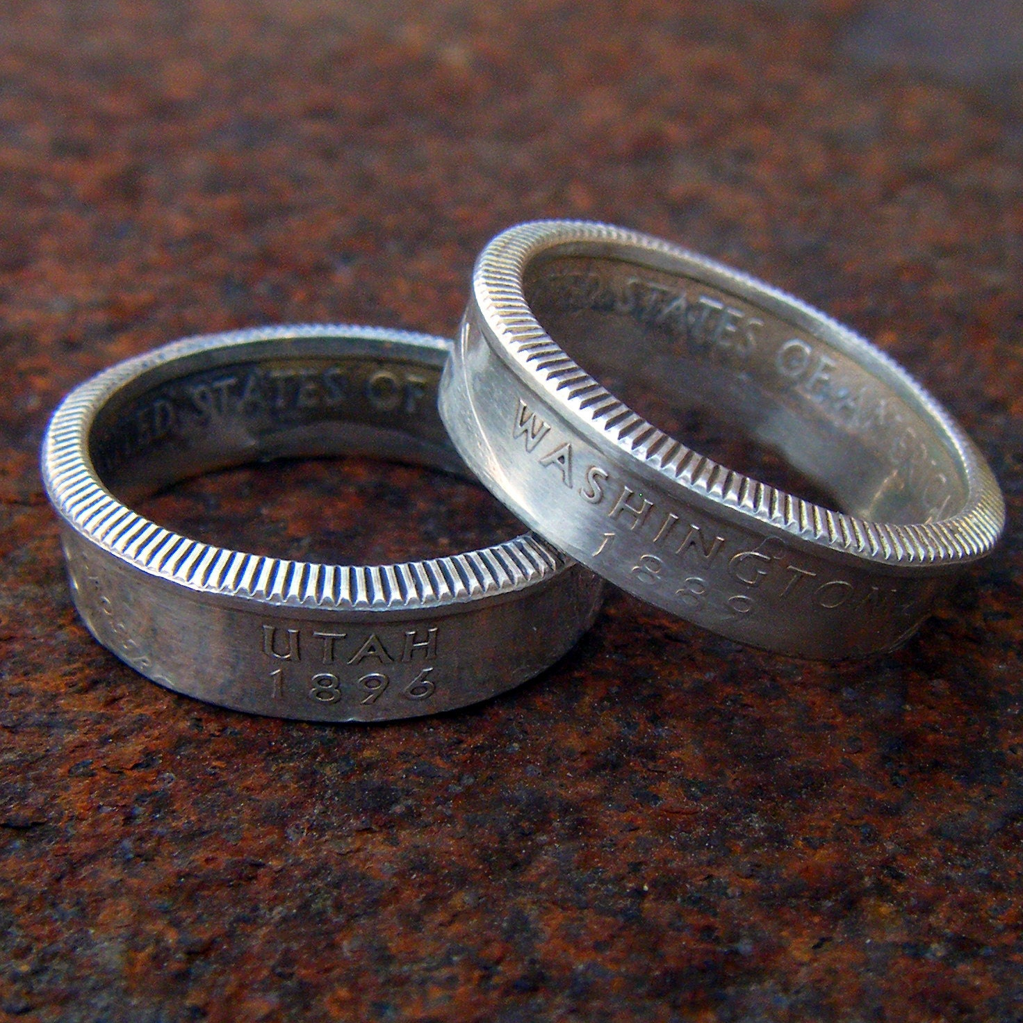 silver state quarter coin ring you choose size by