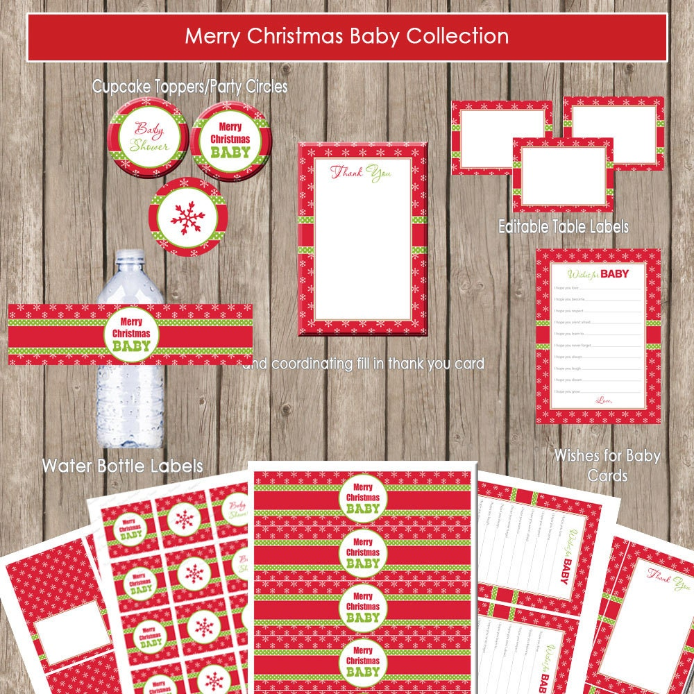 merry christmas baby shower package christmas baby shower red green