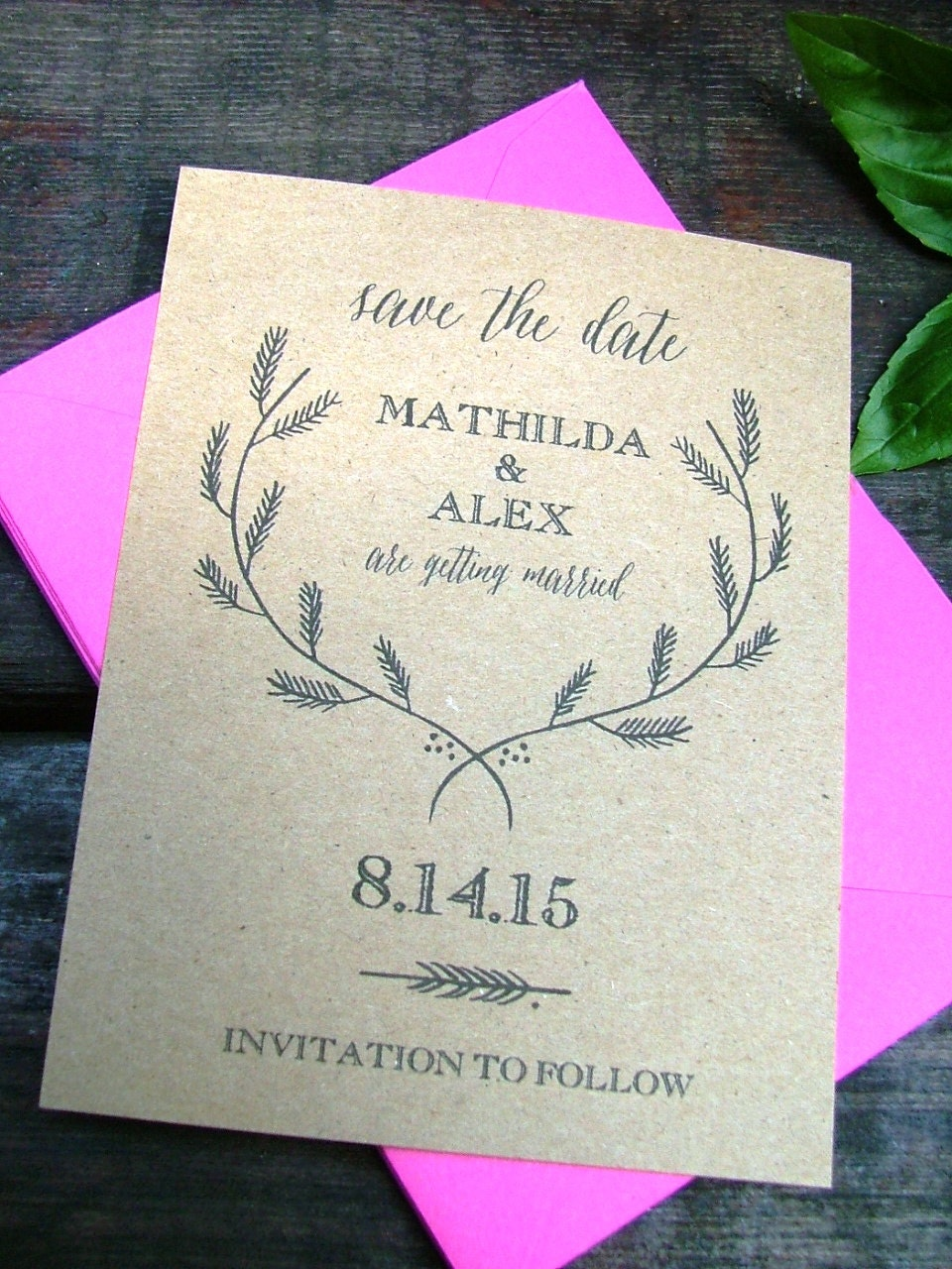 Sweet image regarding printable save the date cards