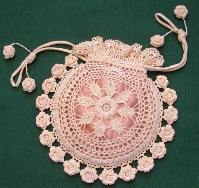 Rings and Roses Irish Crochet Purse Pattern PDF by ...