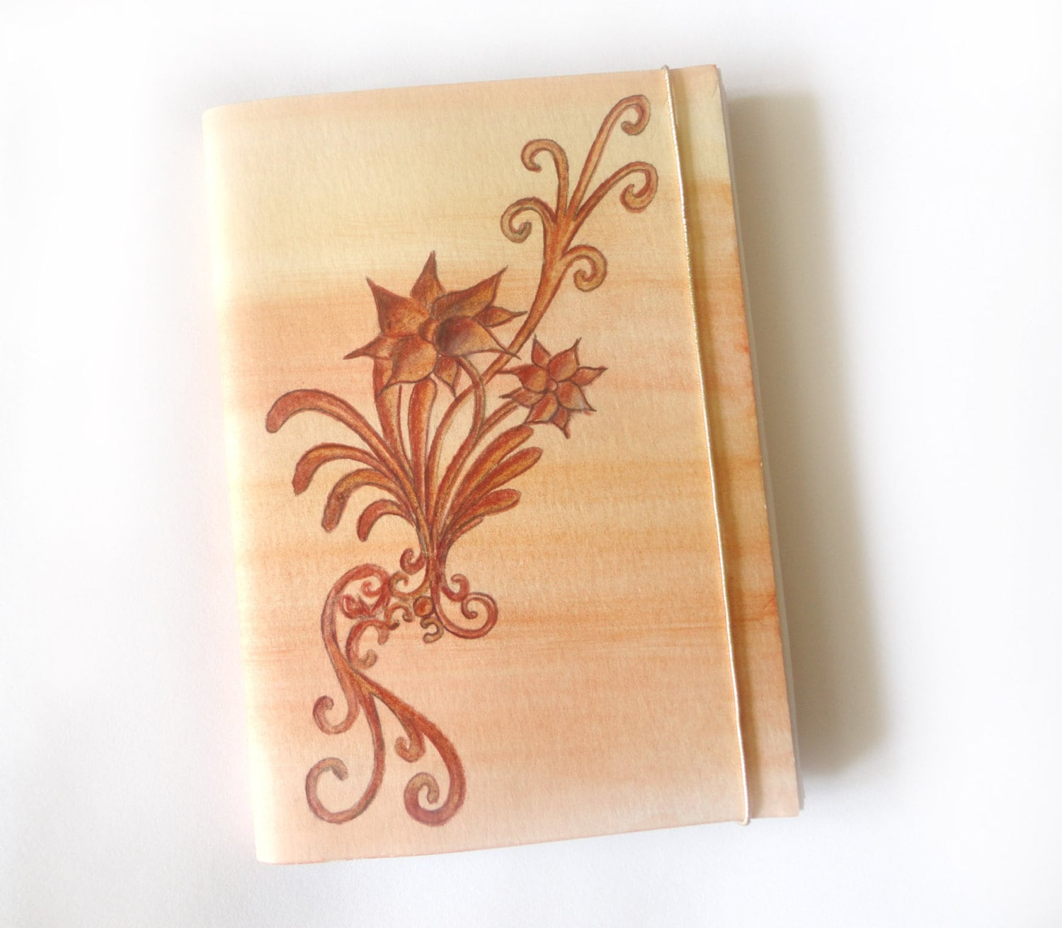 "Handmade and unique journal ""Flowers"" - The Oranges collection - DreamofEverywhere"