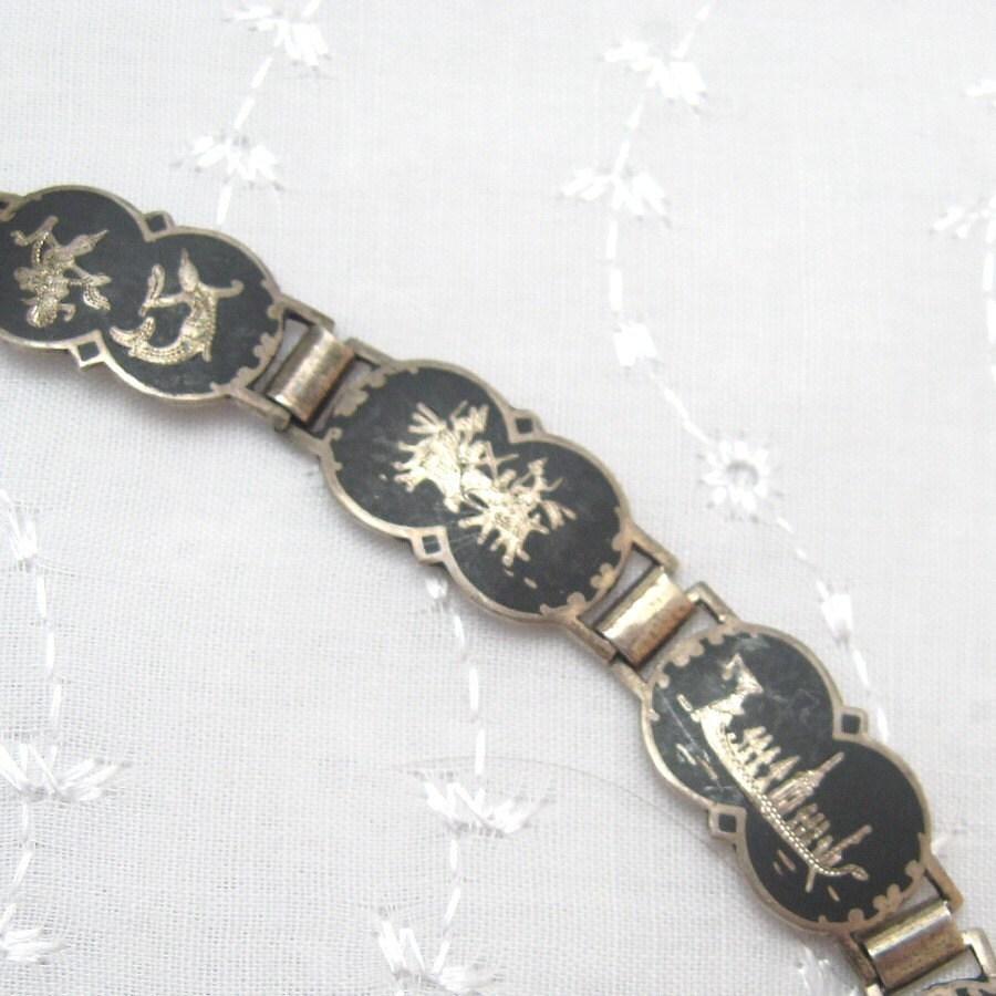 siam sterling bracelet b1904 by purpledaisyjewelry on etsy