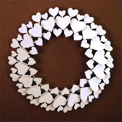 Coeur Couronne - blanc ou brun