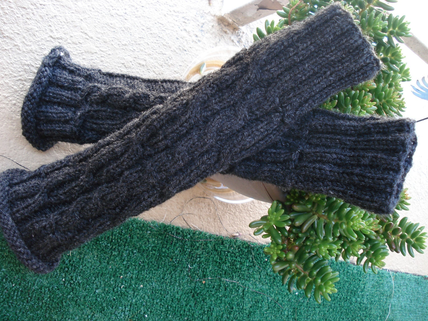 Knit Leg Warmers Cable Pattern : Knit Adult long cable pattern leg warmers you by designbycboutique