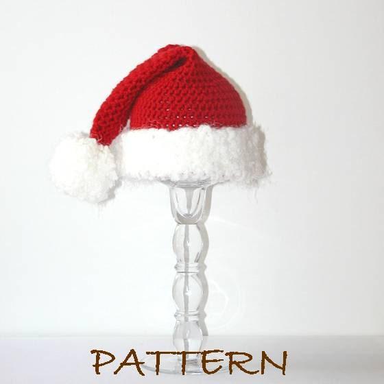 Crochet Pattern Santa Hat Baby : PDF Christmas Santa Baby Hat Crochet PATTERN by ...