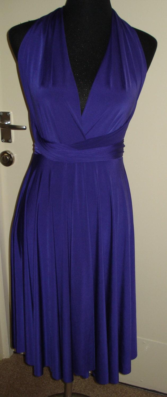 Multiway dress royal blue dress bridesmaid dress knee length dress convertible dress infinity dress  wrap twist wedding dress formal party