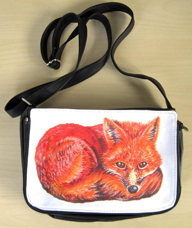 Fox Bag Fox Shoulder Bag Handbag Christmas Gift Animal Bag Mr Fox