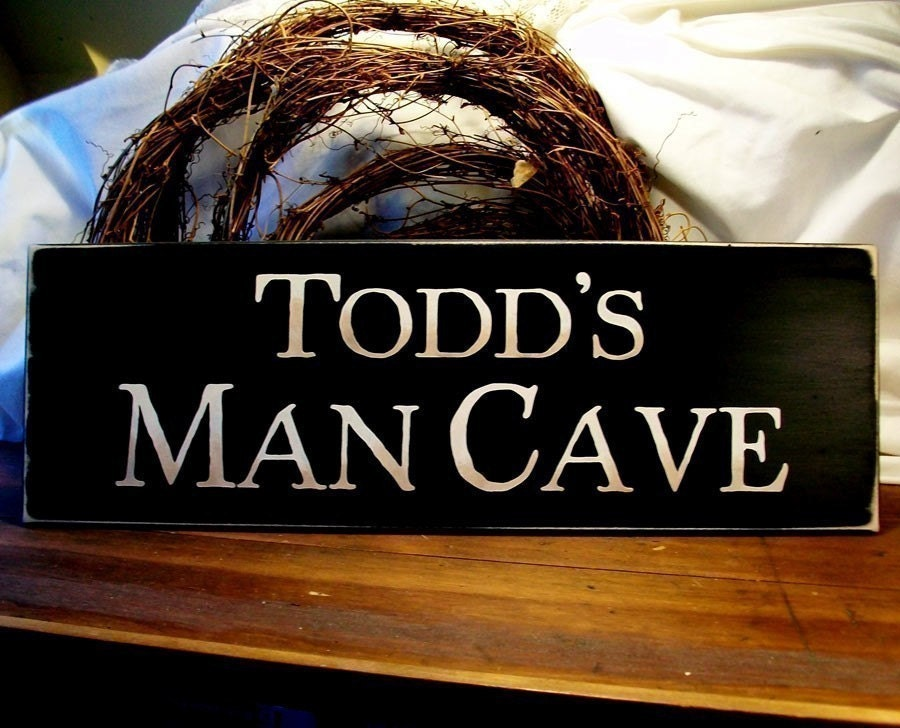 Man Cave Signs Wooden : Personalized man cave wood sign for your by countryworkshop