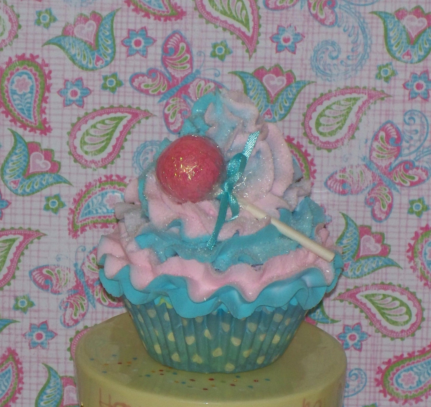 Fake Cotton Candy: Cotton Candy Swirl Fake Cupcake And By FakeCupcakeCreations