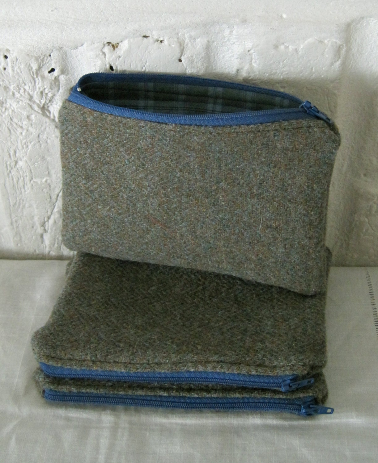 Handmade Recycled Harris Tweed Pouch